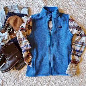 Patagonia Better Sweater Vest, Blue, Large